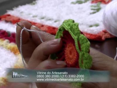 Mulher.com 09.12.2014 Maria José - Toalha de crochê para bandeja flores Parte 2.2