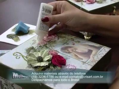 Mulher.com 10.10.2014 - Caixa Scrap por Marisa Magalhães Parte 2