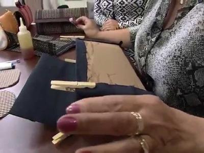 Mulher.com 16.05.2014 Mardineia Braga - Carteira em bambu Parte 2.2