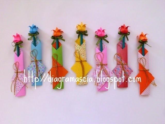 Origami Embalagem para lápis