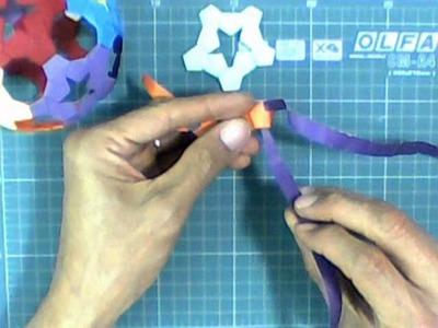 Origami Tira de Papel (Paper Strip) - Esfera 94 (Sphere 94) - Heinz Strobl