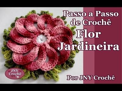 Passo a Passo de Crochê Flor Jardineira por JNY Crochê