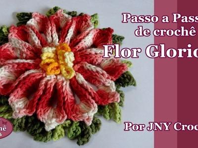 Passo a Passo Flor de Crochê Gloriosa por JNY Crochê