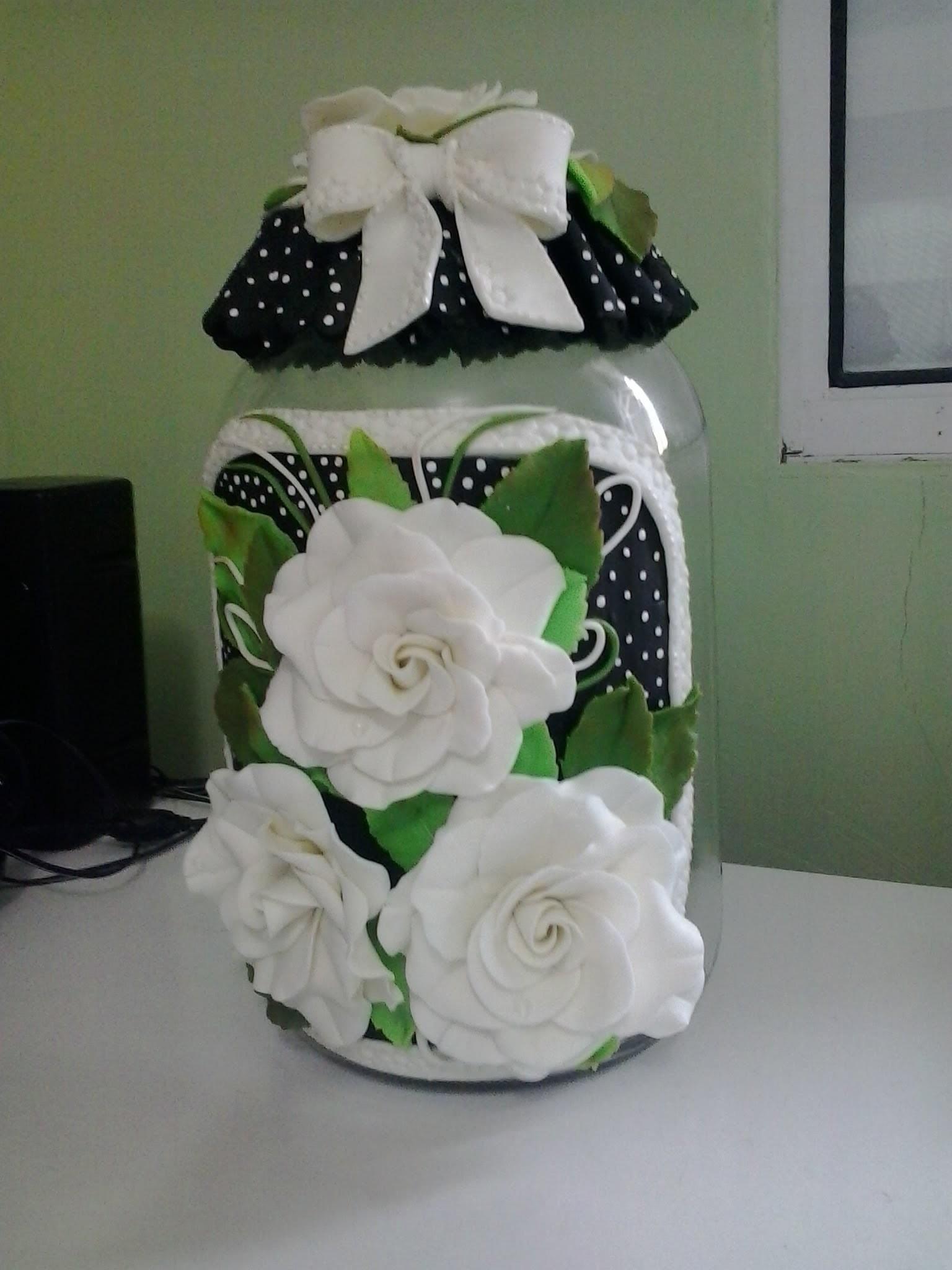 Passo a Passo Pote de Rosas em Biscuit _Ateliê Lucilia Dantas_* Arte em Biscuit* parte 2.5