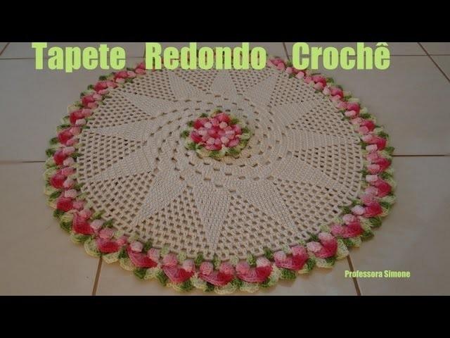 Passo a passo Tapete Redondo Crochê Gisele