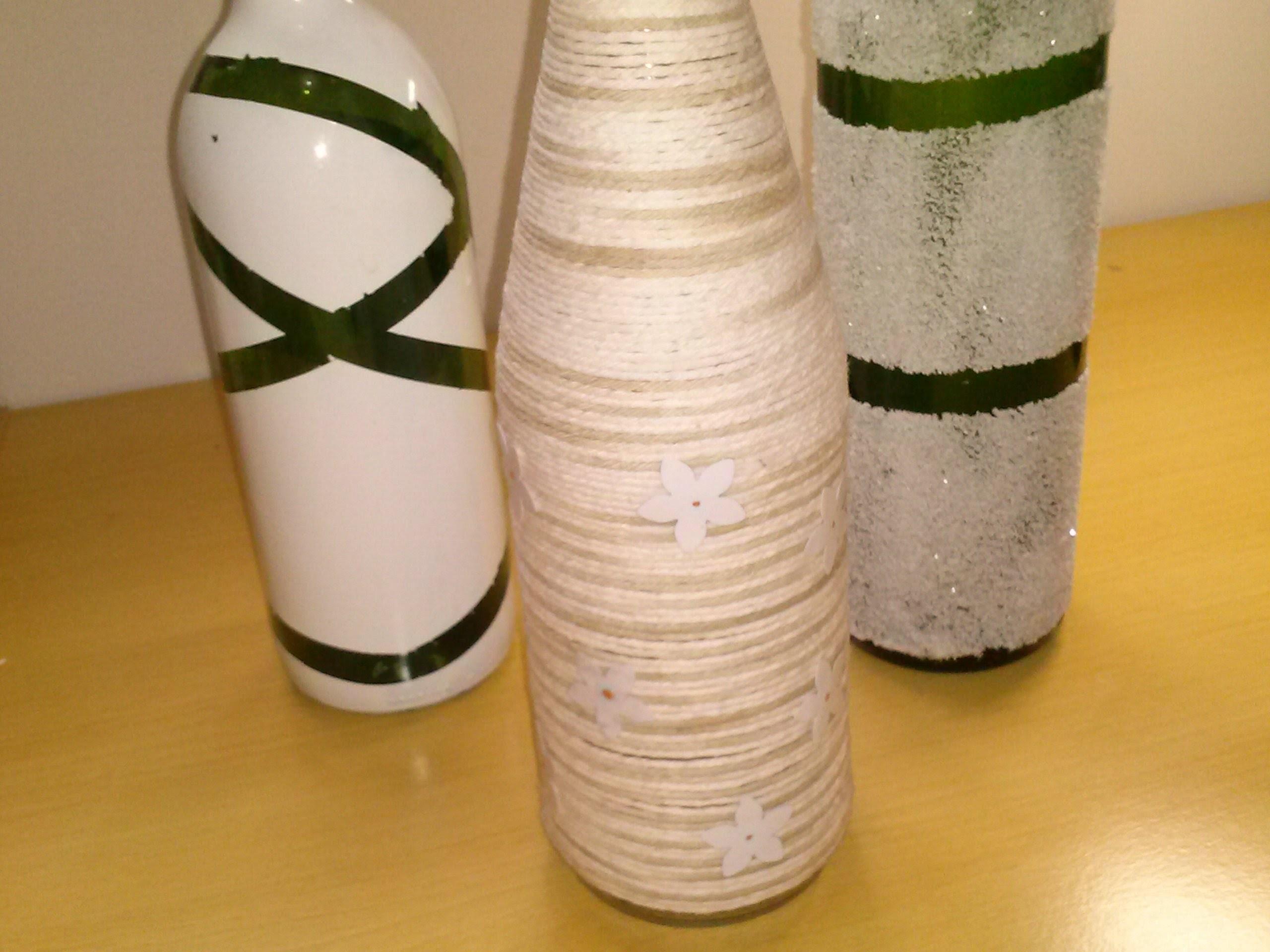 Reciclando garrafa de vidro para decorar a casa passo a passo