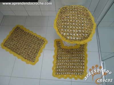 Capa Tampa do Vaso - Jogo de Banheiro Crochê Firenze