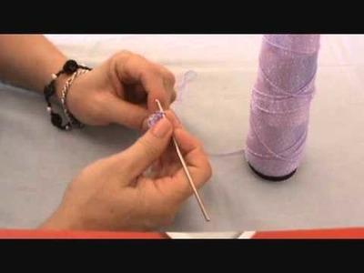 Colar de crochê com bolinhas recobertas