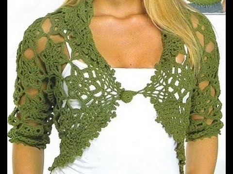 Bolero  Estrellas Calado a Crochet