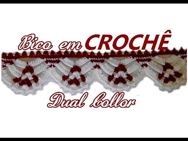 BICO EM CROCHÊ DUAL COLLOR♥