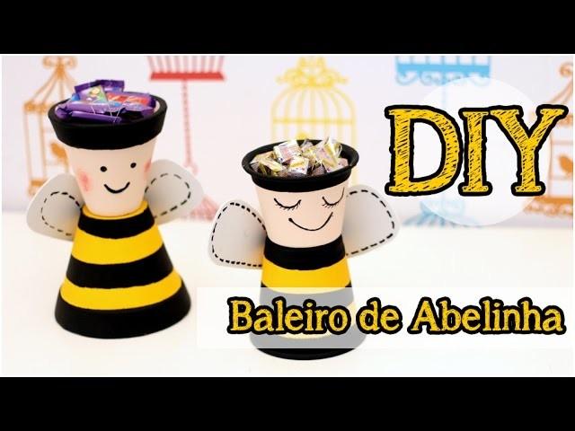 DIY: Baleiro de Abelhinha   Centro de Mesa (Fácil)