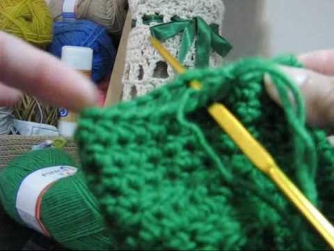 Crochê - Meias com Botões - Parte 02.02