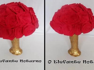Aprenda a fazer rosas (extra: mini árvore). Diy flowers with crepe paper