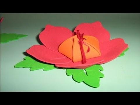 Artesanato em Borracha EVA - Como Fazer Flor em EVA - Cursos CPT