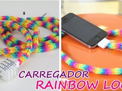 Carregador de celular Personalizado com elásticos Rainbow Loom - wFashionista