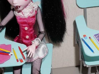 Como fazer lápis, caneta e borracha para boneca Monster High, Barbie, MLP, EAH, etc