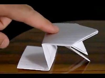 Como fazer um sapo pula-pula com dobradura (origami fácil para iniciantes)