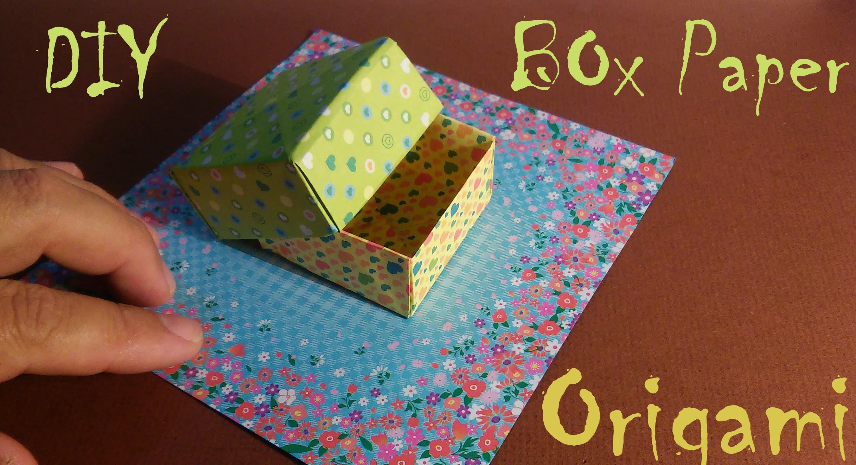 Como fazer uma Caixa de Presente de Origami - Papiroflexia, Dobraduras d.