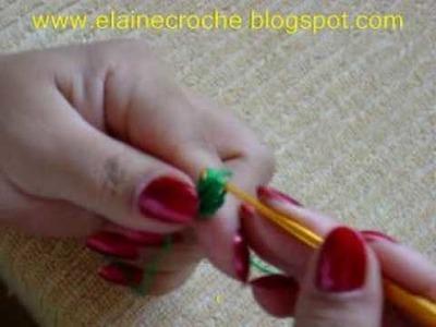 CROCHE - FOLHA PARA A FLOR MODELO 26 - PARTE ÚNICA