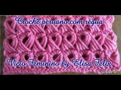 Crochê peruano feito com régua