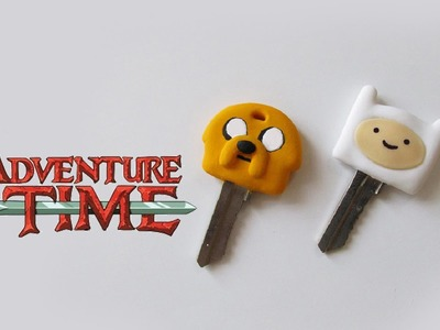 ★ DIY: Chaves do HORA DE AVENTURA ★ (Adventure Time Jake and Finn Key Caps)