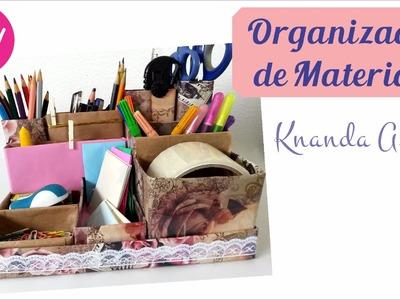 DIY Organizador de Materiais - Volta às aulas - Passo a passo