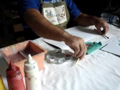 Johnny Pintando Botões de Rosas com a Técnica da Pintura Gestual