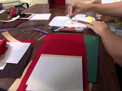 Mulher.com 26.02.2013 Ane Matos - Porta cd cartonagem Parte 1.2