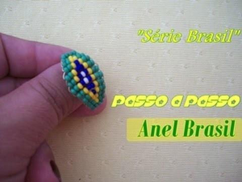 """NM Bijoux -""""Serie Brasil"""" - Passo a Passo - Anel Brasil"""