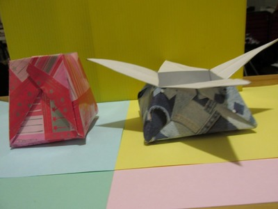 ORIGAMI - CAIXA ESTRELA - STAR BOX - Para festas - For parties - ORIGAMI´S WORLD.