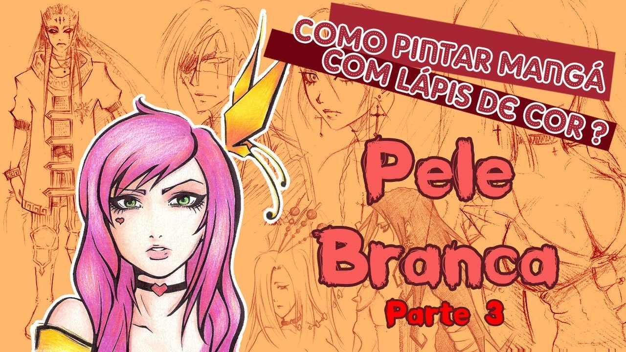 [Parte 3] Como pintar mangá com lápis de cor (How to paint manga with colored pencils)