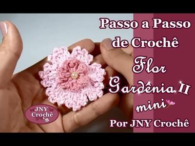 Passo a Passo Flor Gardênia II (mini) por JNY Crochê