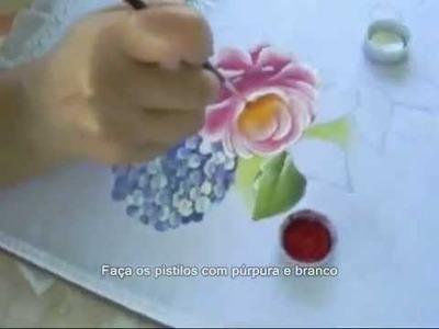 Pintura em Tecido - Passo a Passo Rosas, Hortênsias e Margaridas