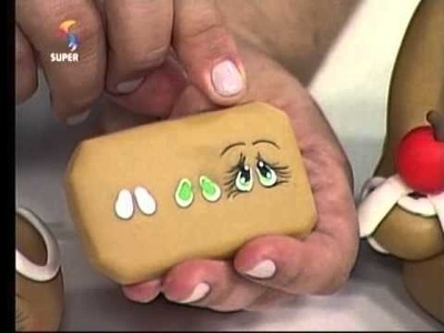 Porta Panetone de Biscuit - Hora de Arte - Parte 2.2
