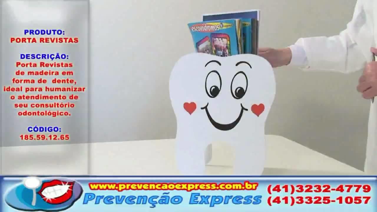 Porta Revistas de Madeira em forma de Dente