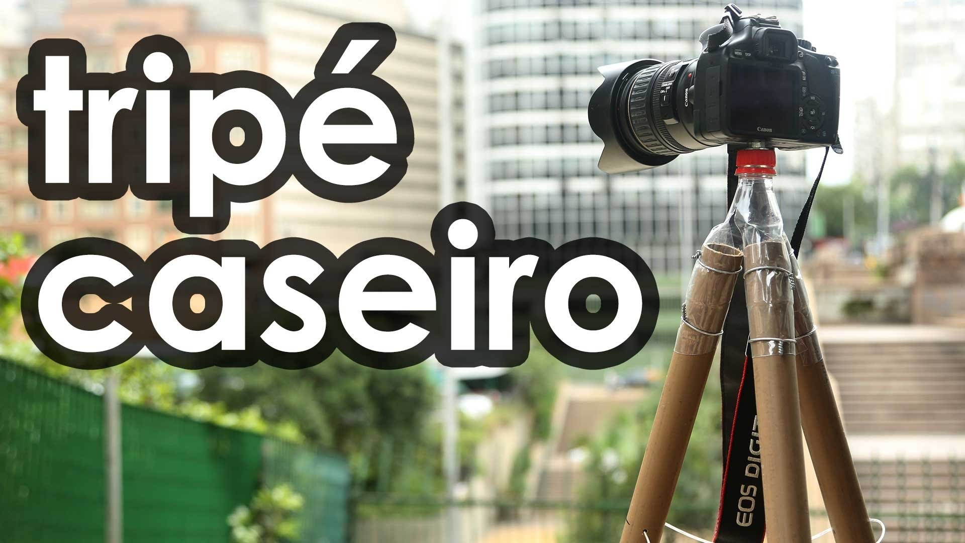 Tripé caseiro para câmera fotográfica - How to make a tripod for camera