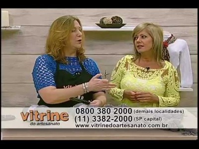 Cachecol feito com Tear  - Vilma Maurer - Vitrine do Artesanato na TV