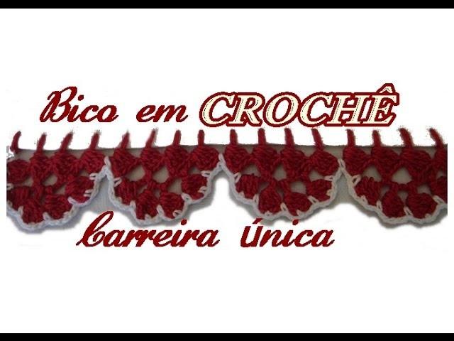 BARRADINHO EM CROCHÊ CARREIRA ÚNICA