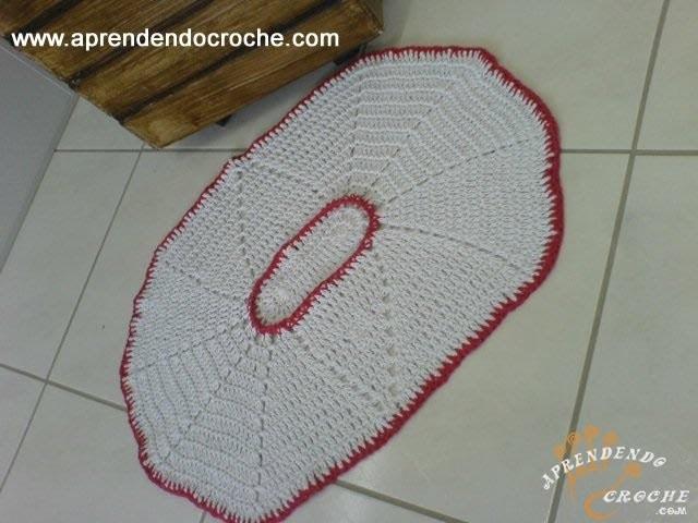 Tapete de Croche Oval com Barbante - 2º Parte