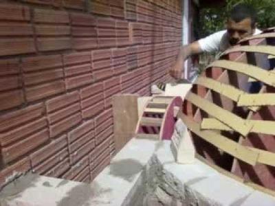 Construçao do forno a lenha house pizza