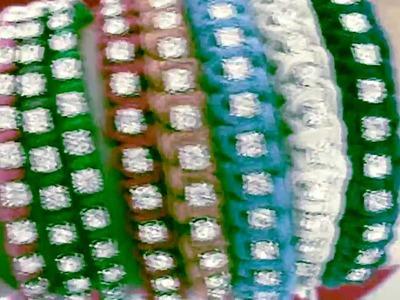 Pulseiras Shambala e Macramê com Strass - Lançamento 2012 - Requint Strass Jóias