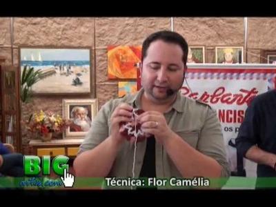 BIG artes.com e Marcelo Nunes no 2 Workshop de artesanato de Ourinhos-Técnica: Flor Camélia