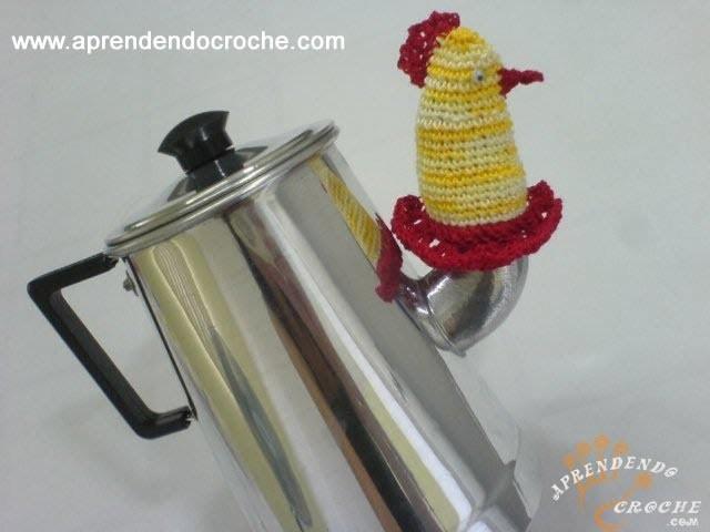 1º Parte - Protetor de Bico Bule. Chaleira em Croche - Aprendendo Crochê