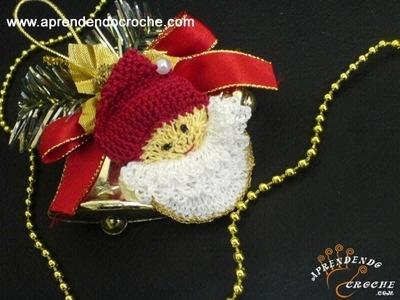 4º Parte - Imã de Geladeira em Croche - Papai Noel Delicado - Aprendendo Crochê