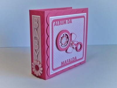 Album da Mafalda - Mini Album para bebé (scrapbooking baby girl album)