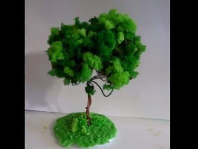 Árvore de Espuma Triturada para Maquete ou Decoração Parte 3.3_Lucilia Dantas