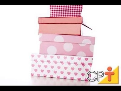 Como Confeccionar Caixas Artesanais Para Presentes - Cursos CPT