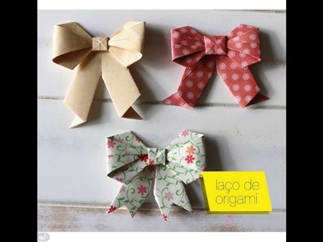 Como fazer laço de origami