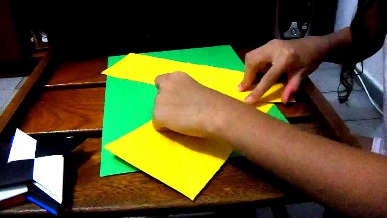 Como fazer origami de Estrela Ninja (Shuriken)