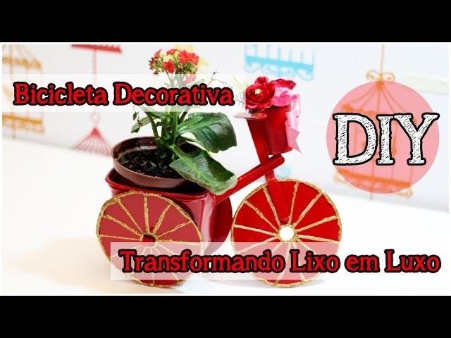 DIY: Bicicleta Decorativa Reciclada | Bicicleta Pote Margarina #TLL #tododia18